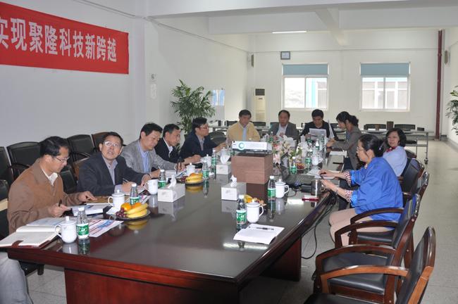 江苏省经信委领导来南京聚隆科技股份有限公司参观调研